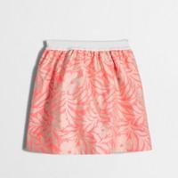 Girls' neon floral pull-on skirt