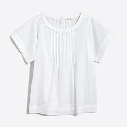 Factory girls' pintuck top