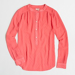 Factory clip-dot chiffon blouse