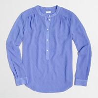 Clip-dot chiffon blouse