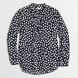 Factory printed secretary blouse
