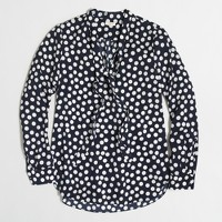 Printed secretary blouse
