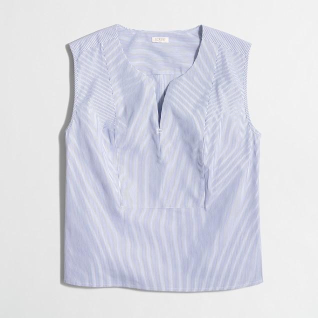 Striped sleeveless bib top