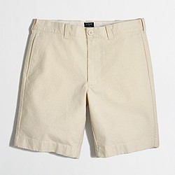 """Factory 9"""" Gramercy short in seeded canvas"""
