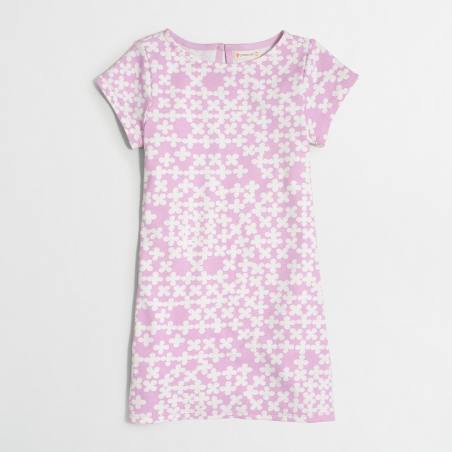 Girls' short-sleeve printed dress