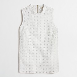 Factory eyelet shell top