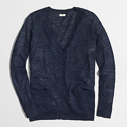 Factory airspun cardigan sweater