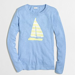Factory sailboat intarsia sweater