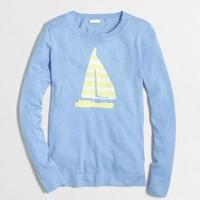Sailboat intarsia sweater