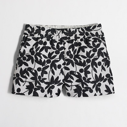 "3"" floral jacquard boardwalk pull-on short"