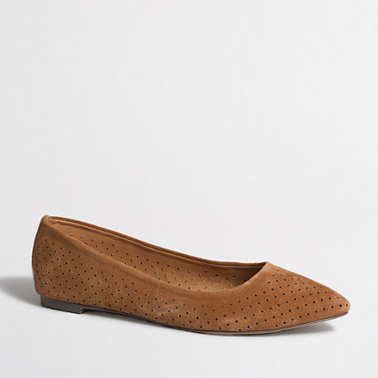 Amelia laser-cut flats in suede