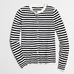 Factory striped Caryn cardigan sweater