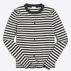 Striped Caryn cardigan sweater
