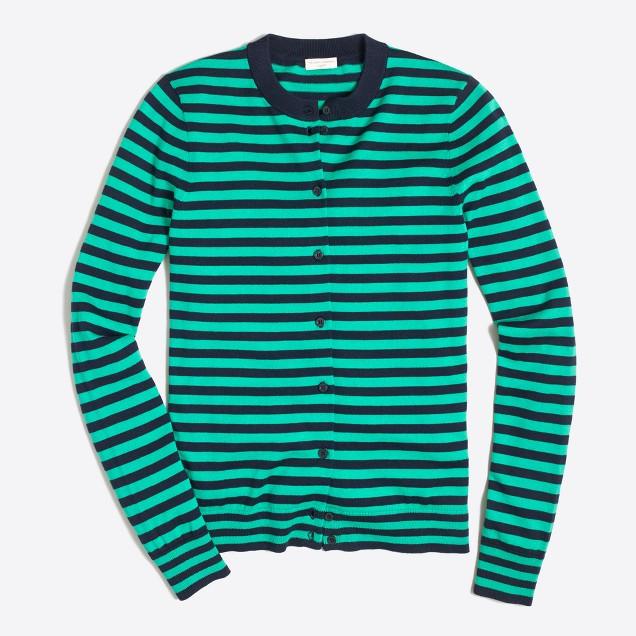 Striped Caryn cardigan sweater