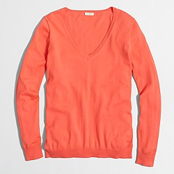 Factory cotton V-neck sweater