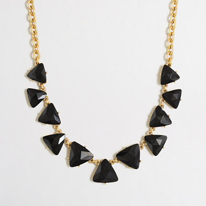 Crystal triangles necklace