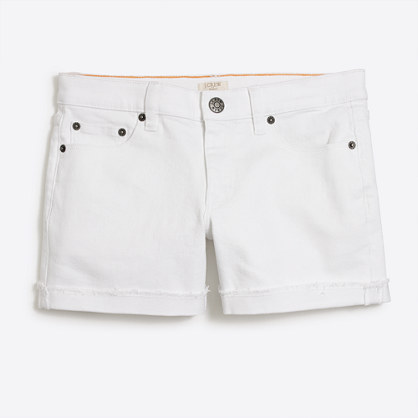 "5"" white denim short"