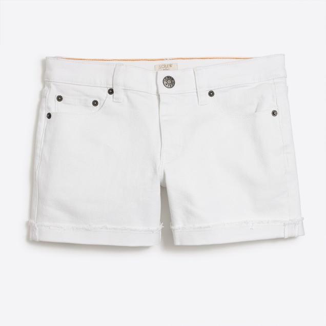 Denim short in white wash