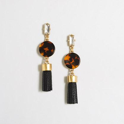 Tortoise tassel earrings