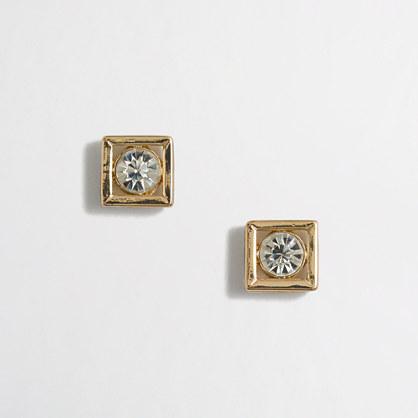 Framed crystal earrings