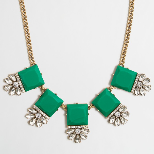 Embellished squares necklace