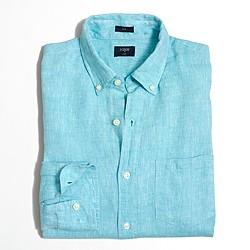 Factory slim linen shirt