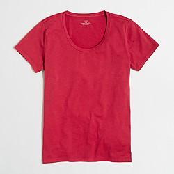 Factory sunwashed garment-dyed crewneck T-shirt
