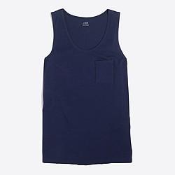 Sunwashed garment-dyed tank top