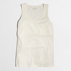 Factory sunwashed garment-dyed tank top