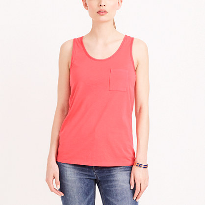 Sunwashed garment-dyed tank top