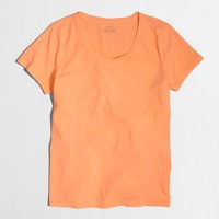 Neon sunwashed garment-dyed crewneck T-shirt