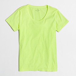 Factory neon sunwashed garment-dyed crewneck T-shirt