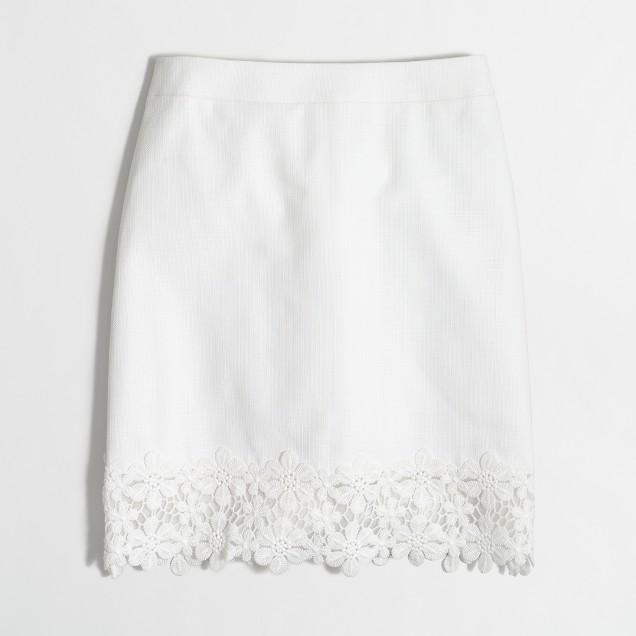 Lace-trim mini skirt