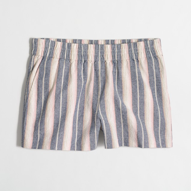 "3"" striped boardwalk pull-on short"