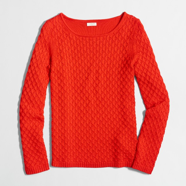 Textured-knit scoopneck sweater