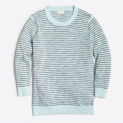 Dot-striped three-quarter-sleeve sweater