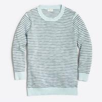 Dot-striped three-quarter-sleeve sweater