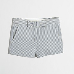 Factory girls' seersucker short with bow