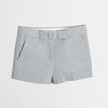 Girls' seersucker short with bow