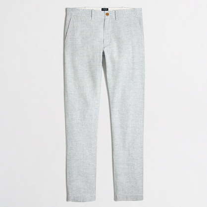 Driggs linen-cotton pant