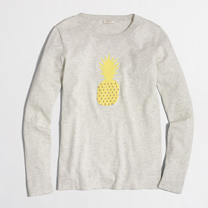 Pineapple intarsia sweater