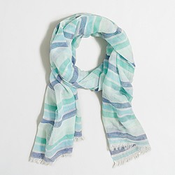 Factory neon-striped scarf