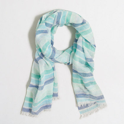 Neon-striped scarf