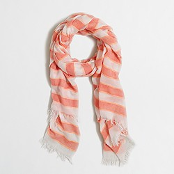 Factory striped scarf