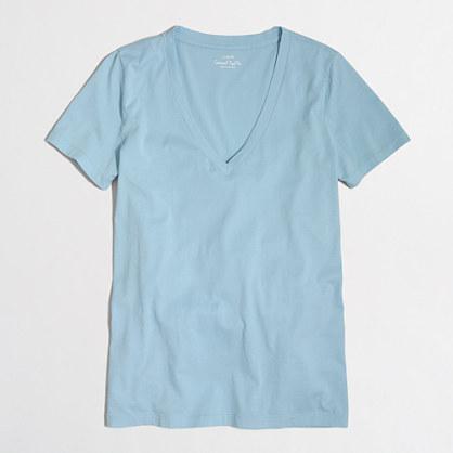 Sunwashed garment-dyed V-neck T-shirt