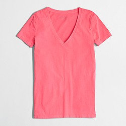 Factory neon sunwashed garment-dyed V-neck T-shirt