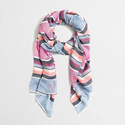 Mixed-stripe scarf