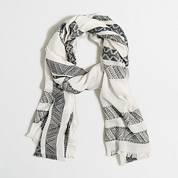 Factory detailed stripes scarf