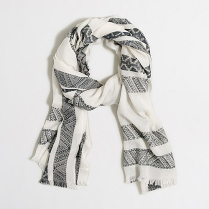 Detailed stripes scarf