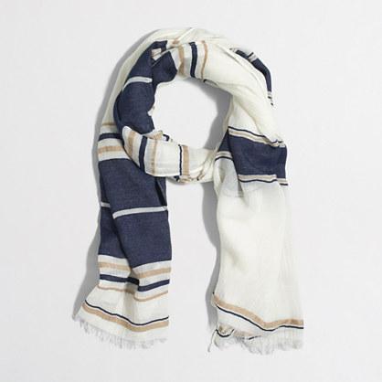Denim striped scarf